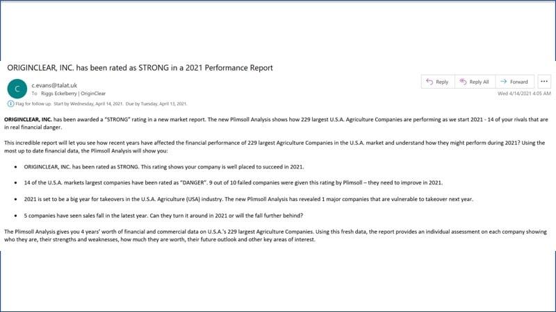 Plimsoll report