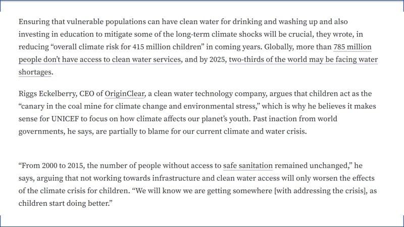 Children Dangerous climate quote 1