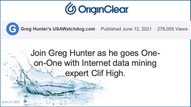 Greg Hunter - Clif High