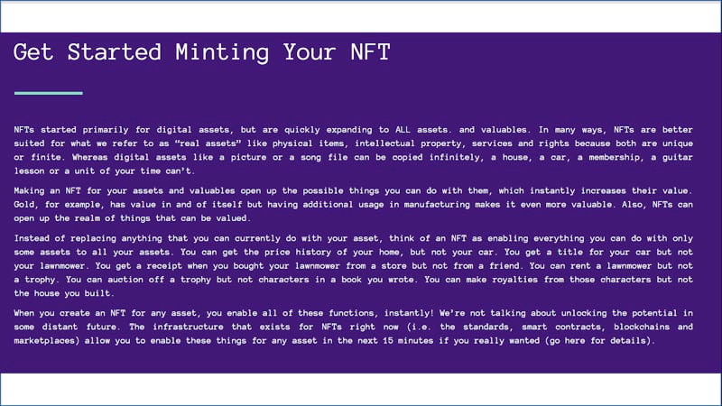 Minting your NFT image b