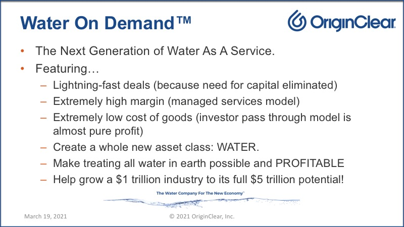 Water on Demand slide