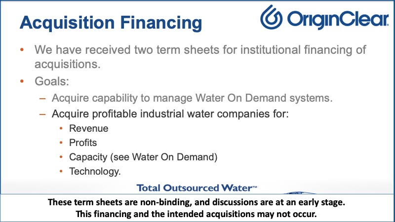Acquisition financing 2