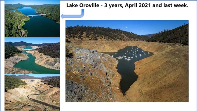 Lake Oroviklle runs dry