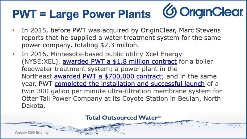 PWT large power plants