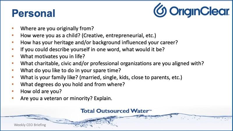 Sample Qs personal