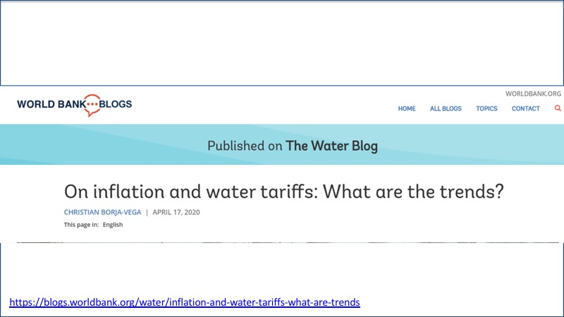 Inflation and water tariffs