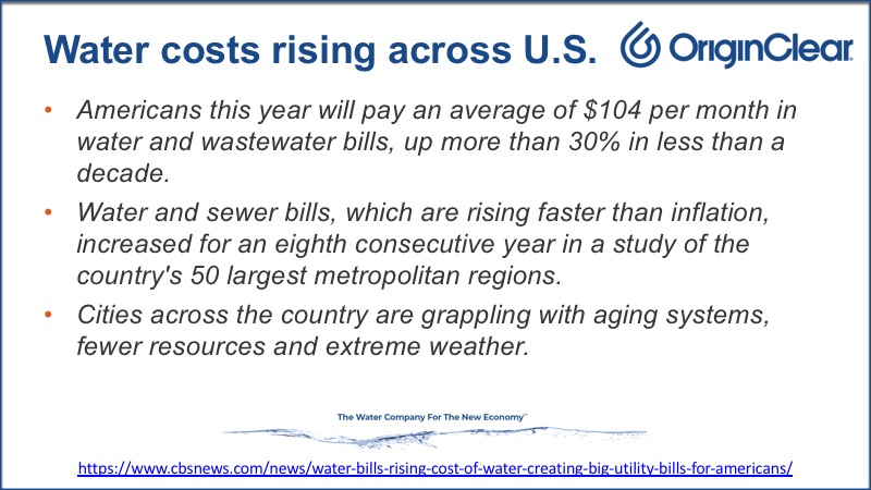 Water costs rising