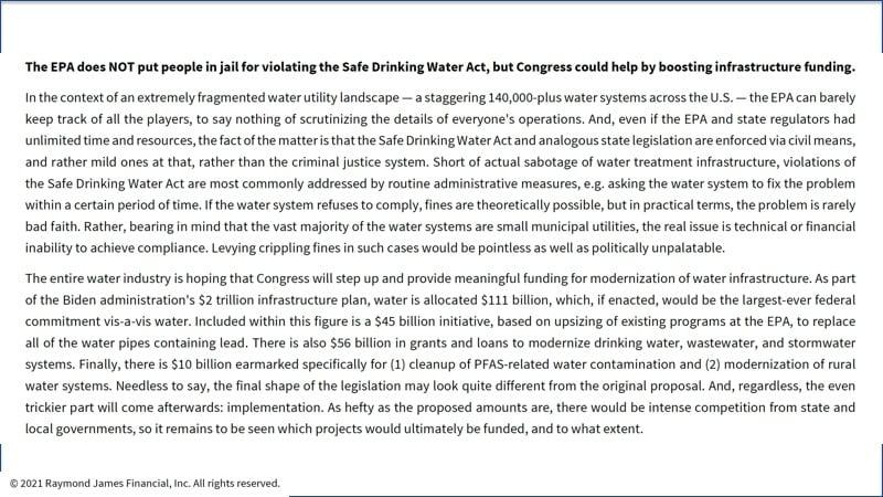 Safe drinking water act violation