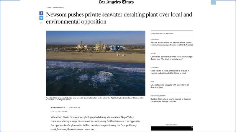 LA Times HB desal article