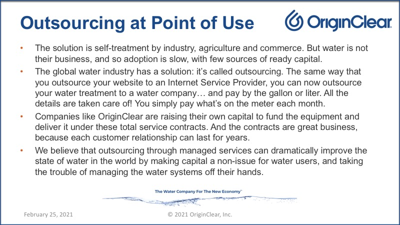 Outsourcing at point of use