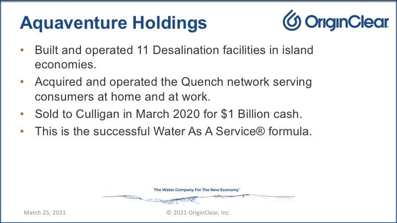 AquaVenture holdings