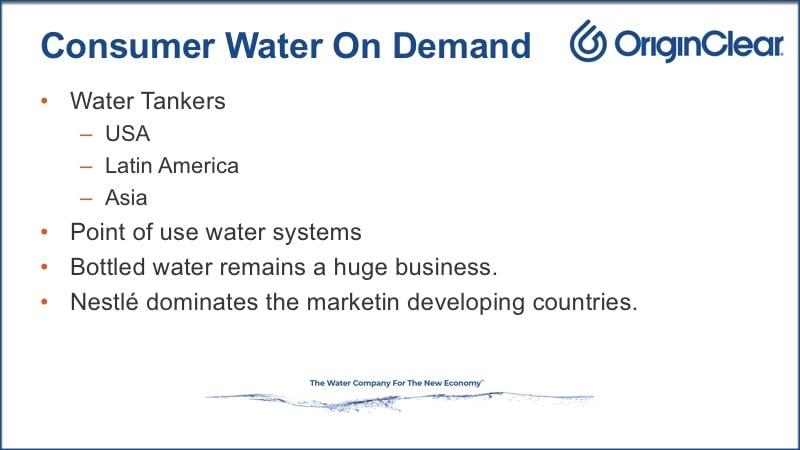 Consumer water on demand