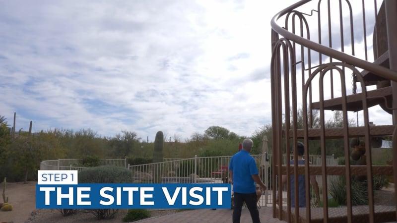 The site visit