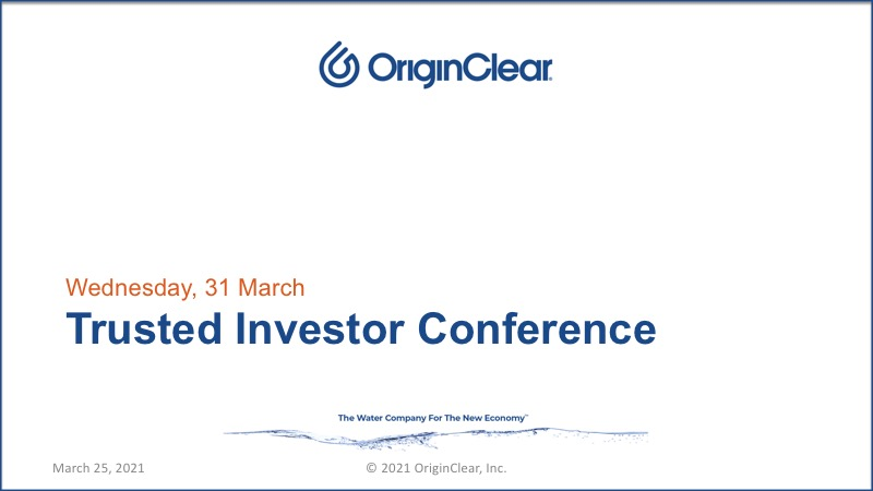 Trusted Investor Conference