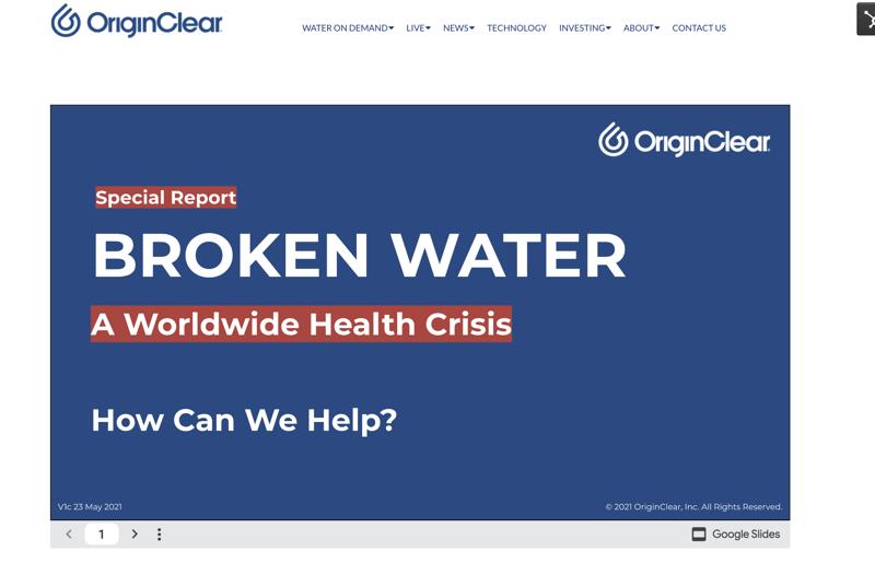 Broken Water homepage