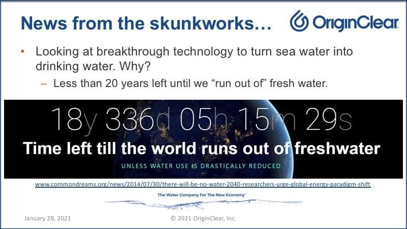 OriginClear skunkworks