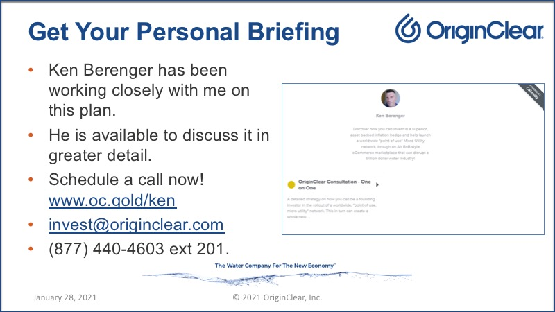 Personal briefing