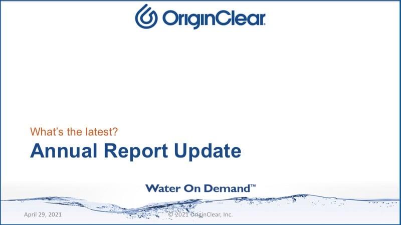 Annual Report update
