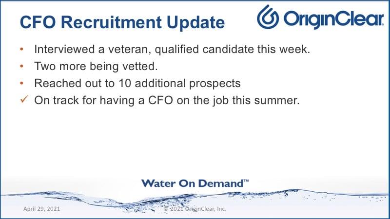 CFO recommendations