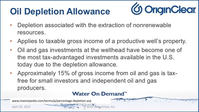 Oil depletion allowance