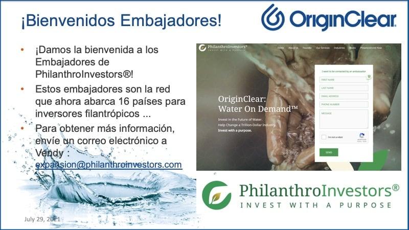 20210805 CEO Sp Briefing Water Ambassadors