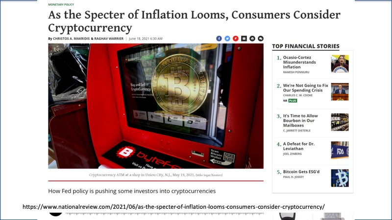 inflation - consumers consider crypto