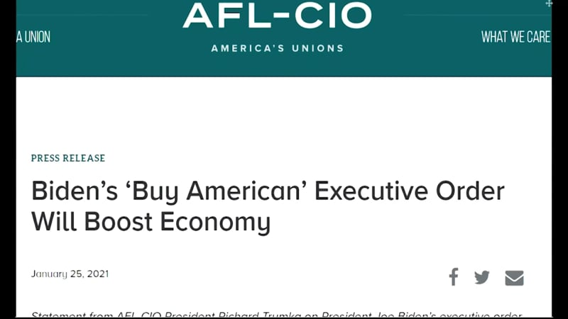 AFL-CIO PR on Bidens Exec Order
