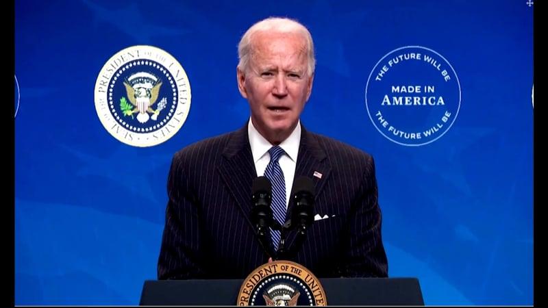 Biden press conference Buy American - speaking