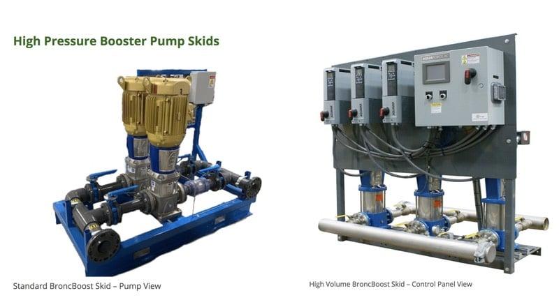 Booster pump skids