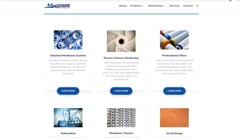 Consolidated Water Solutions website