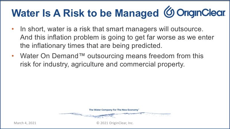 Water - a risk to manage