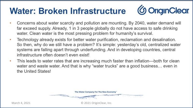 Water Broken infrastructure