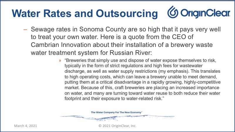 Water rates and outsourcing