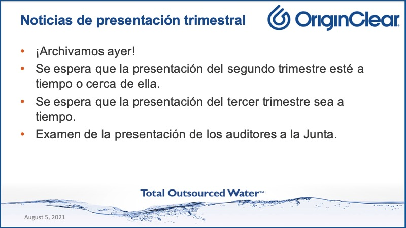 20210805 CEO Briefing Spanish Quartrly Filing
