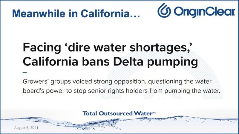 Cali bans Delta pumpingt