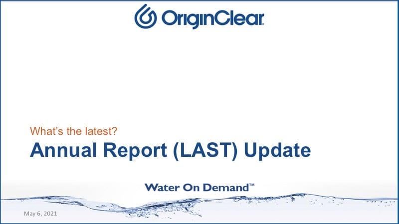 Annual Repoert - last update