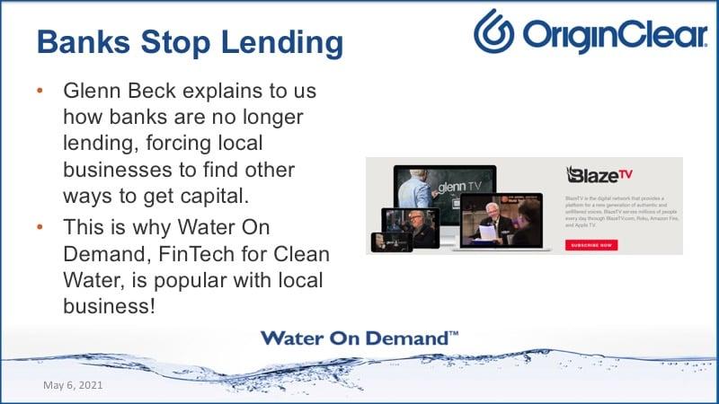 Banks stop lending