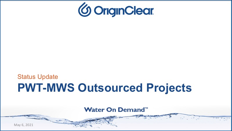 PWT-MWS Outsourced projects