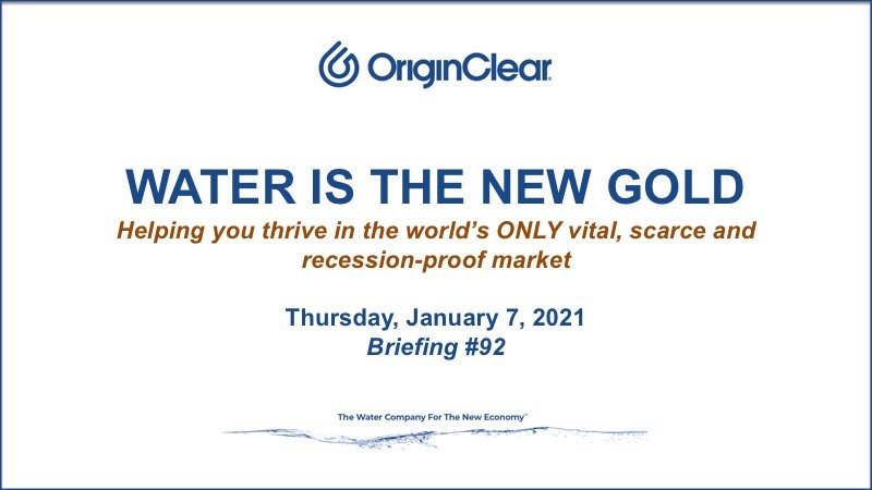 Water is the New Gold title slide