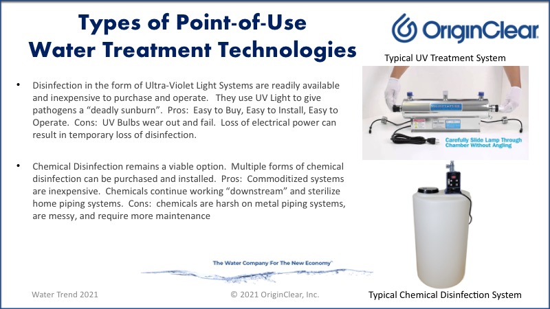 Types of treatment - ultraviolet disinfection