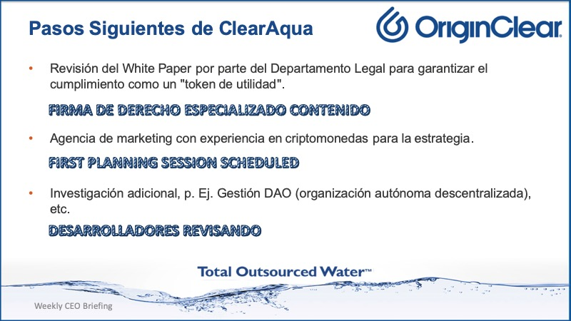 20211007 CEO Briefing ClewarAqua next steps Spanish