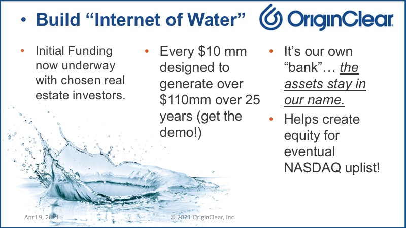 Build internet of water