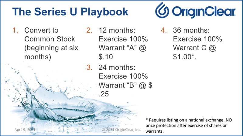 The series U playbook