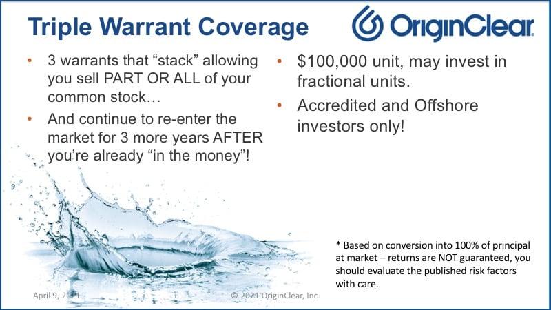 Triple warrant coverage