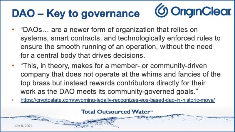 DAO-Key to governance