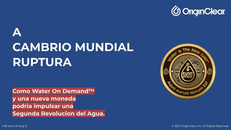 Spanish Title - World Changing Disruption - Water On Demand