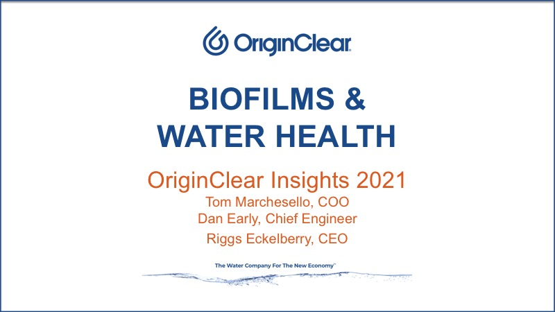 Biofilms & Water Health