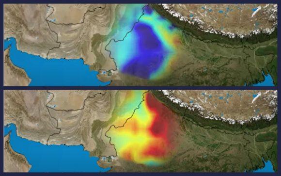 India Aquifer satellite map