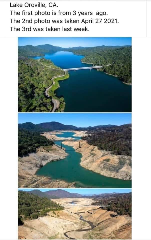 Lake Oroville dries up