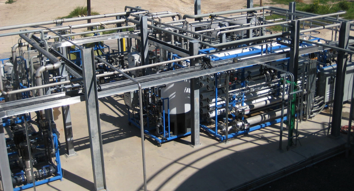 Twin 225 GPM Ultrapure Water System installed in Texas HP-0